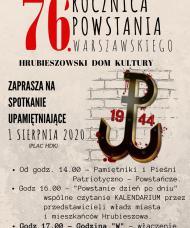 76 rocznica Powstania Warszawskiego